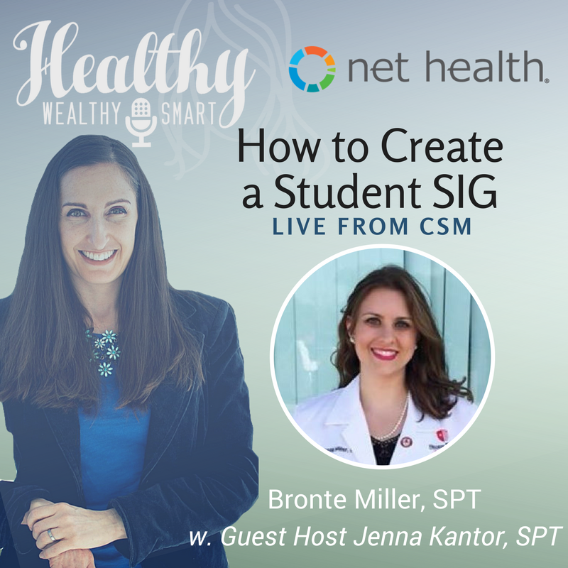 327: Bronte Miller, SPT: How to Create a Student SIG