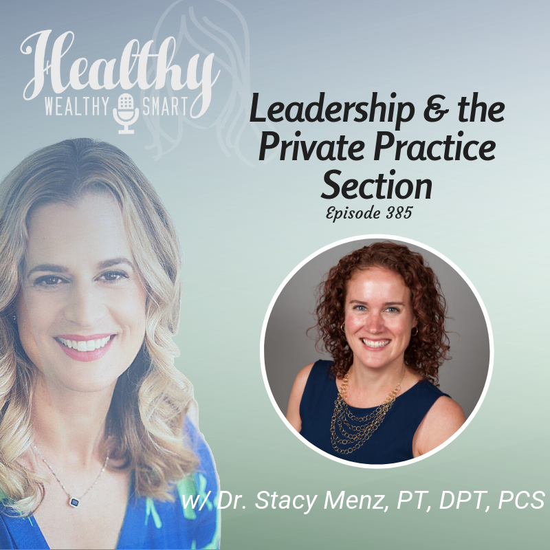 385: Dr. Stacy Menz: Leadership & the Private Praction Section