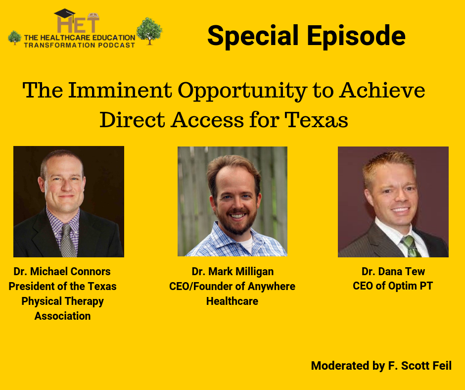 410: Healthcare Transformation Education: Direct Access in Texas