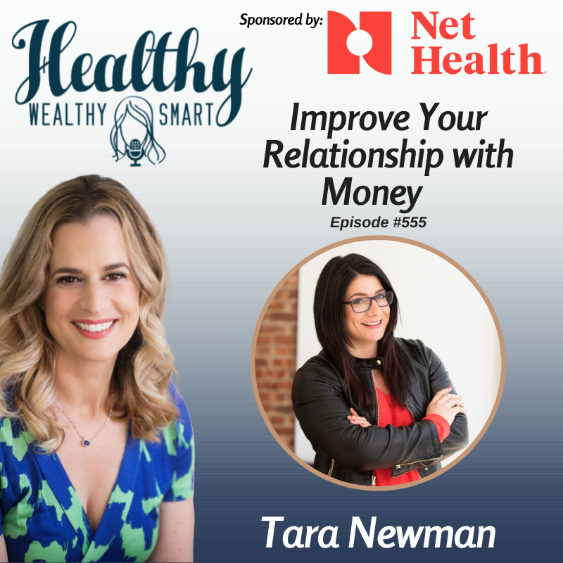 Podcast graphic with Dr. Karen Litzy and Tara Newman